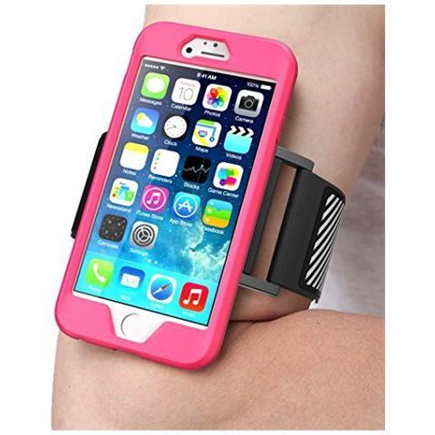 SUPCASE Apple Iphone Se / 5s / 5 Bracciale (fascia Per Il Braccio) , Supcase Facile Montaggio Sport Armband Per Correre Con Il Tuo Telefono. Custodia Flessibile Premium Combo (rosa)