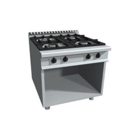 Cucina 4 fuochi a gas su vano a giorno - Dim. cm 80x90x85h