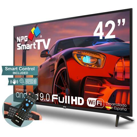 Image of 430L42FQ 2021 - Smart TV 42? Full HD ed esclusivo Telecomando con Tastiera QWERTY e Funzione MOTION, Android 9.0, Processore Quad Core, WiFi, DVB-T2 / C, PVR, Screen Mirroning, Smart TV Multilingua
