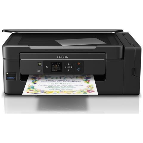 EPSON Stampante Multifunzione EcoTank ET-2650 Inkjet a Colori Stampa Copia Scansione 33 ppm (B / N) 15 ppm (a Colori) Wi-Fi USB