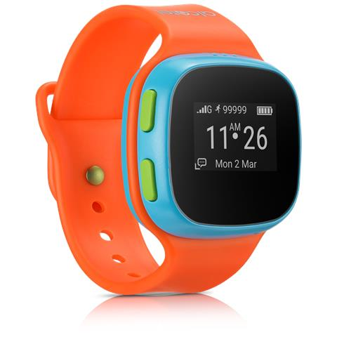 CHILD EXPLORER Orologio GPS per bambini MoveTime, consente la localizzazione, di effettuare e ricevere telefonate e messaggi vocali Colore arancione