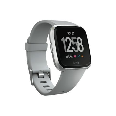 "Fitbit Smartwatch Versa Display 1.3"" con Bluetooth e Wi-Fi Argento - Italia"