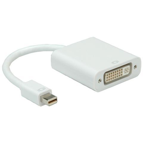 Roline Secomp Mini DisplayPort-DVI Adapter, M / F Mini DisplayPort DVI Bianco cavo di interfaccia e adattatore