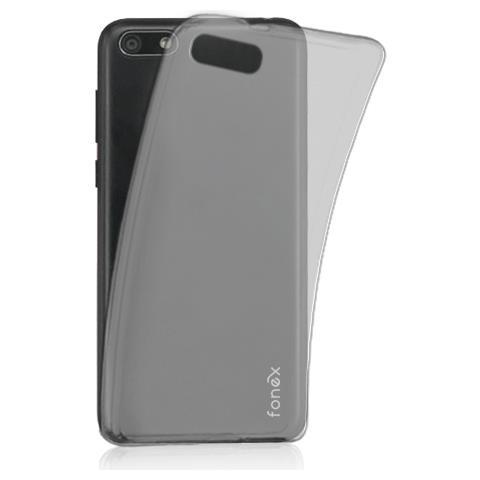 FONEX cover in TPU inv 0,2 mm. per Huawei y5 2018 trasparente black