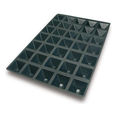 Sq010 - Sessantaquaranta N. 35 Piramide 65x65 H 35 Mm Nero