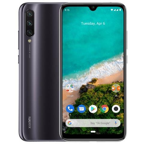 "XIAOMI MI A3 Grigio 64 GB 4G / LTE Dual Sim Display 6"" HD+ Slot Micro SD Fotocamera 48 Mpx Android"