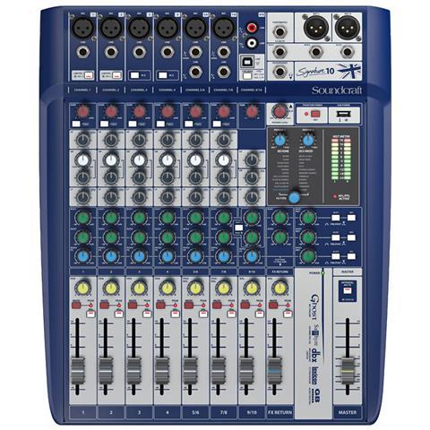 Soundcraft Signature 10 Mixer Usb 10 Canali Con Effetti