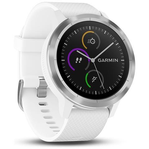 GARMIN Vivoactive 3 Smartwatch con GPS e cardiofrequenzimetro colore Bianco / Argento