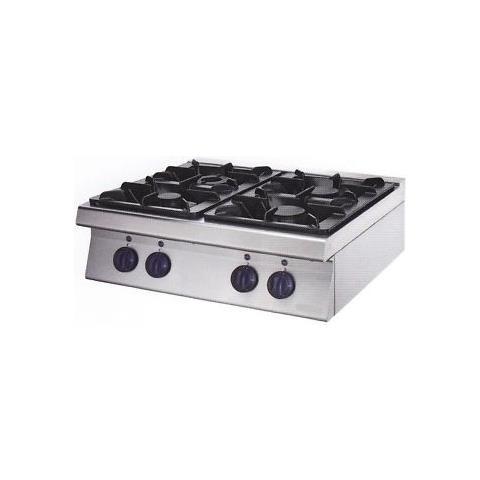 Cucina Piano Cottura Gas Banco 4 Fuochi Cm 80x60x29 Rs0732