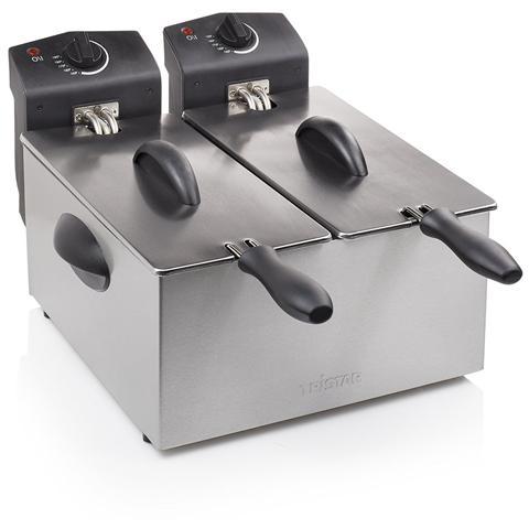 FR6937 Friggitrice Capacità 2 x 3 Litri Potenza 2 x 1800 Watt