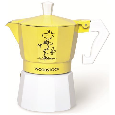 Caffettiera Peanuts Woodstock 3 tazze giallo.