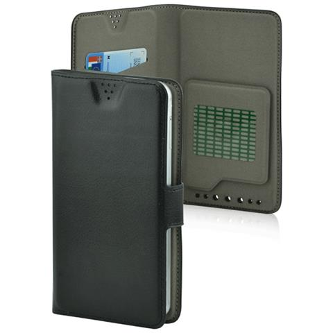 """FONEX Flip Cover Custodia Twin Universale per 5.5"""" colore Nero"""