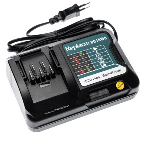 Image of Caricabatterie Compatibile Con Makita Um600dzx, Ur100, Ur100d, Ur100dsme, Ur100dsmex, Ur100dwaex Batterie Li-ion (10,8v, 12v) Di Attrezzi