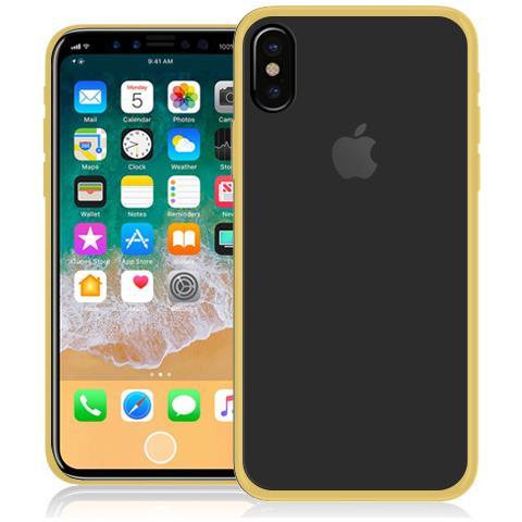 FONEX Cover in TPU per iPhone X Colore Trasparente / Oro