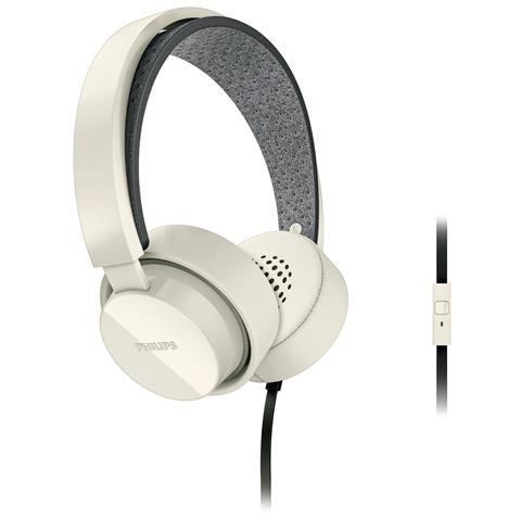 PHILIPS Cuffie ad Archetto SHL5205WT + Microfoni colore Bianco