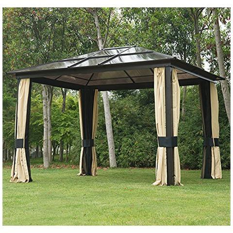 Padiglione di lusso in alluminio gazebo tenda da giardino 300x360x265cm