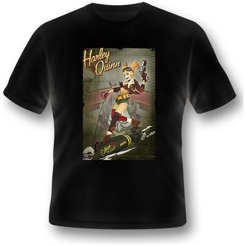 2BNERD Batman - Harley Quinn Bomb (T-Shirt Unisex Tg. L)