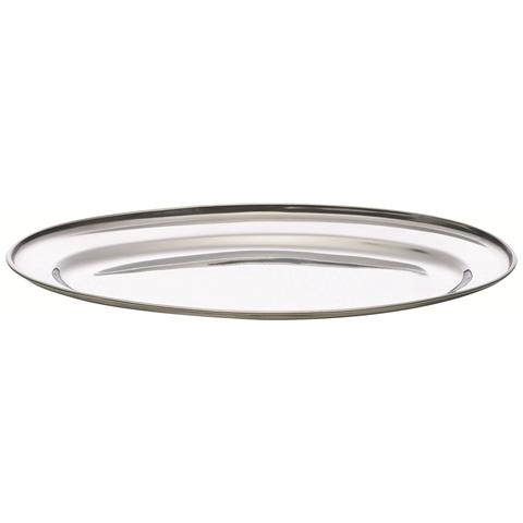 EXCELSA Piatto ovale in acciaio cm. 40