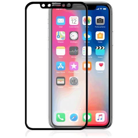 FONEX Pellicola Protettiva in Vetro Temperato per iPhone X Nero