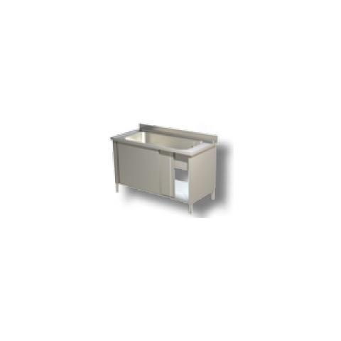 Lavello 200x70x85 Acciaio Inox 430 Armadiato Cucina Ristorante Pizzeria Rs4967