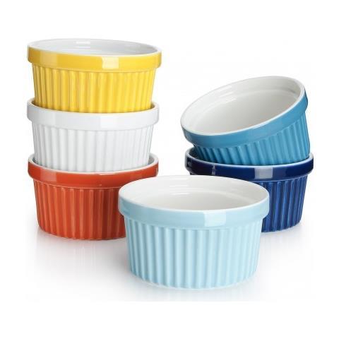 Stampo Muffin Cream Brulee, Coppia Giallo E Blu, In Porcellana Da Forno. 2 Pz Pagnossin