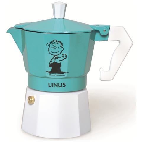 Caffettiera Peanuts Linus 3 tazze azzurro.