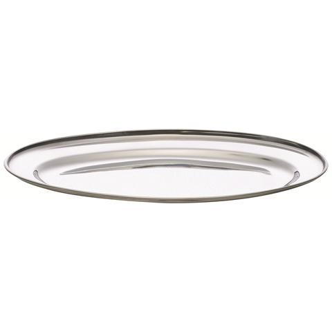 Piatto ovale in acciaio cm. 35.