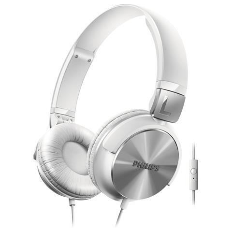 PHILIPS Cuffie con Microfono Cablato SHL3165WT Colore Bianco