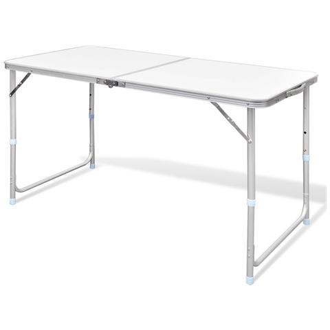 Tavolo Da Campeggio Alluminio.Vidaxl Tavolo Da Campeggio Pieghevole Alluminio Altezza