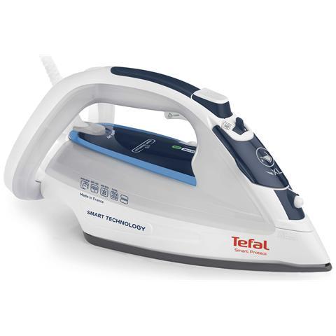 TEFAL FV 4970 Smart Protect Ferro da Stiro a Vapore Potemza 2500 Watt Colore Blu / Bianco
