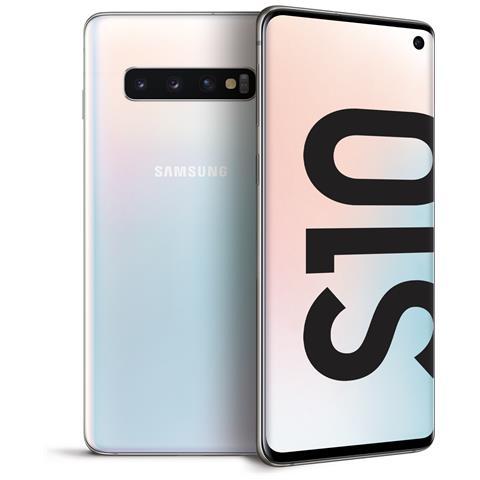 Image of Samsung Galaxy S10 Bianco 128Gb Dual Sim Display 6,1'' Quad HD+ Octa Core Ram 8GB Slot Micro SD Wi-Fi +4G Fotocamera 12Mpx Android - Italia