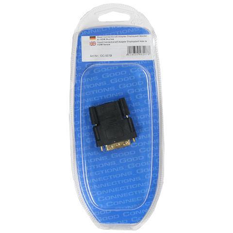 ALCASA GC-0018, DisplayPort, DVI-D 24+1, Maschio / femmina, Nero