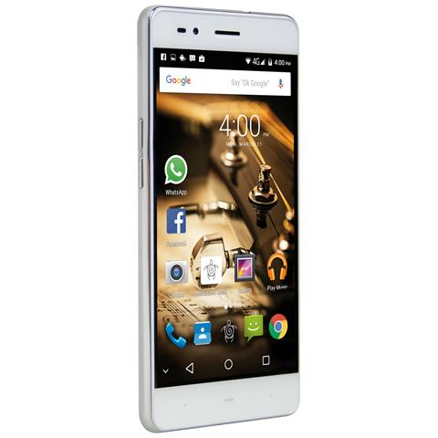 PhonePad Duo B500 Argento Dual Sim Display 5'' HD Quad Core Storage 16GB +Slot MicroSD Fotocamera 8Mpx Android - Italia