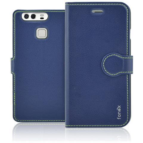 FONEX Flip Cover Custodia Identity per P10 Plus - Blu