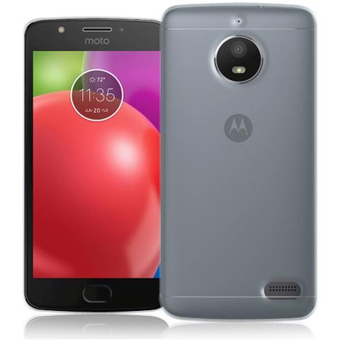 FONEX Pixel Cover Anti Urto 0,4 mm di Spessore in Morbido TPU per Motorola Moto E4 Colore Trasparente