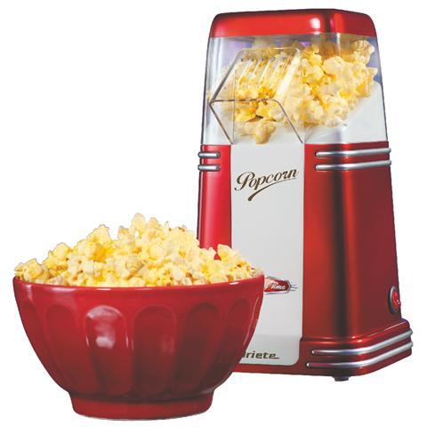 Popcorn Popper Party Time Macchina Per Pop Corn Capacità 60 gr di Mais Potenza 1100 Watt Colore Rosso