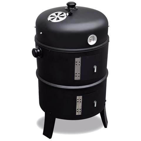 Barbecue Griglia A Legna E Carbonella, Affumicatore