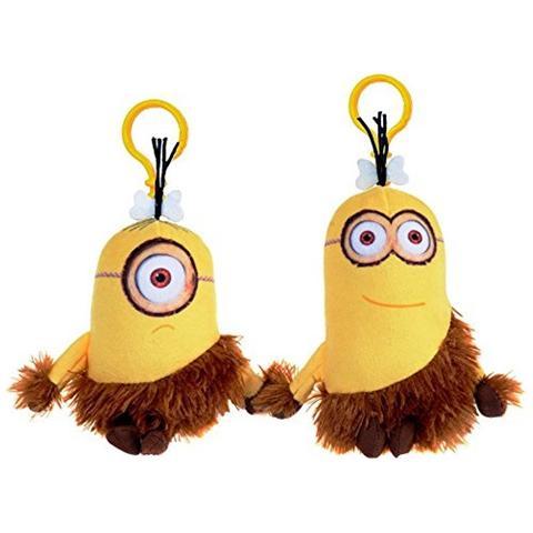 Joy Toy Minions - Portachiavi Peluche Cavernicolo 12 Cm - Assortimento 2 Pz