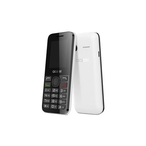 """ALCATEL OT 10-54D Bianco Dual Sim Display 1.8"""" con Fotocamera - Italia"""