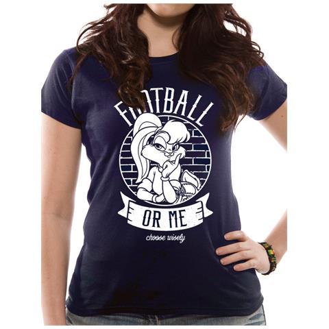CID Looney Tunes - Football Or Me (T-Shirt Donna Tg. Xl)