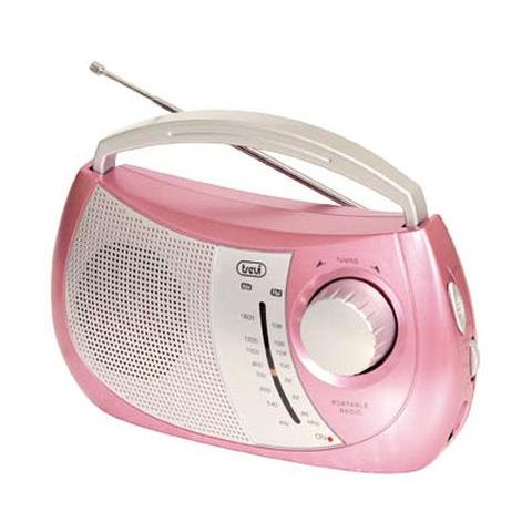TREVI Radio Portatile Trendy AM / FM 2 Bande Colore Rosa