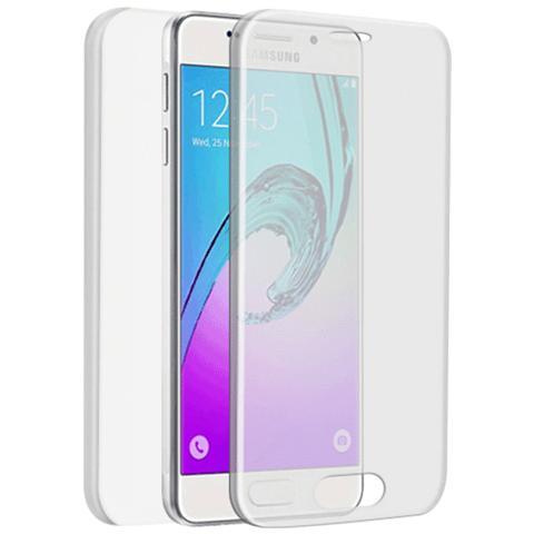 FONEX Specter Cover Fronte / Retro in TPU con Funzione 3D Touch per Galaxy A3 (7) Colore Trasparente