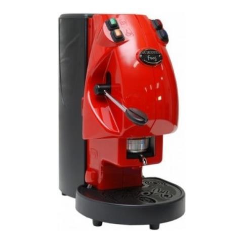 Caffe Borbone Frog Libera installazione Semi-automatica Macchina per caffè con capsule 2L 1tazze Nero, Rosso