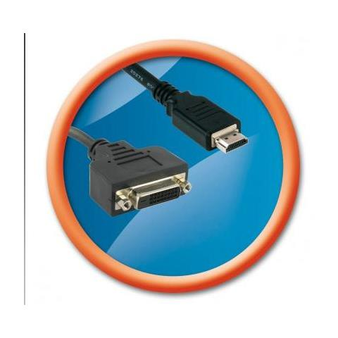 T'nB ADVIHDDV37362, HDMI M, DVI FM, Maschio / femmina, Nero, 0,15m, Bolla