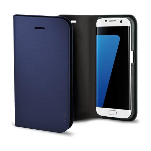 FONEX Shine Book Custodia a Libro per Galaxy S7 Colore Blu Scuro