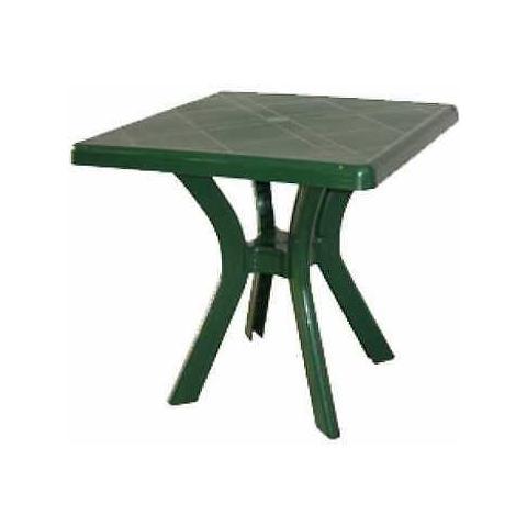 Tavolo Quadrato In Resina Verde