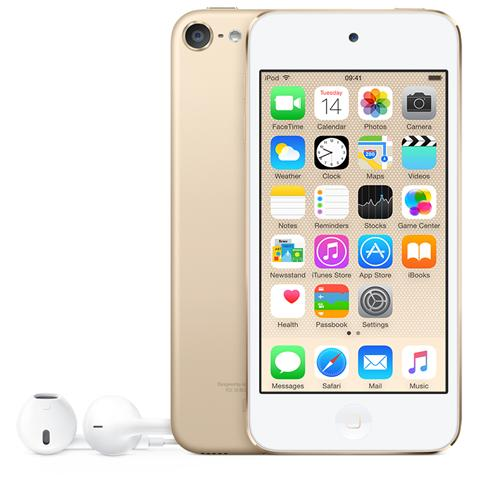 """APPLE iPod Touch 16GB Display Retina 4"""" IPS Multi-Touch Fotocamera 8Mpx con AirPlay iCloud Bluetooth / Wi-Fi Colore Oro"""