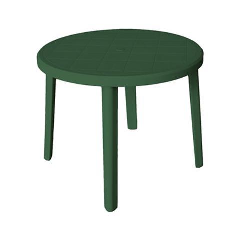 Tavolo in polipropilene colore verde cm D 90xH 72