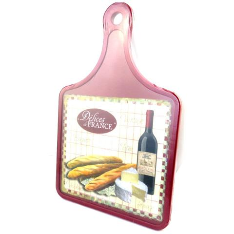 tagliere 'terroir français' vino e il formaggio (30x20 cm) - [ m4888]