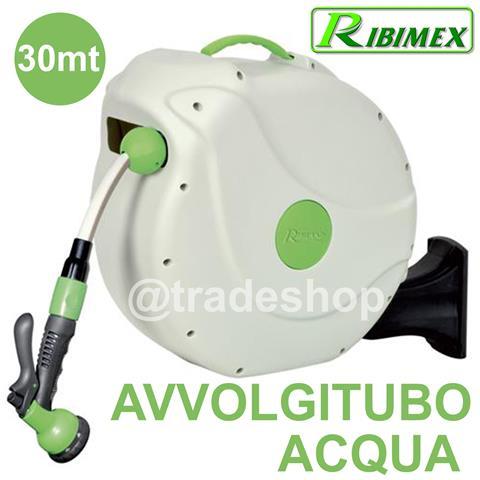 Avvolgitubo Automatico Acqua 30 Metri Ribimex Prd32p Con Fissaggio A Parete